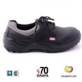 Zapatos de Seguridad Grafa 70 Modelo 101 Cuero Box Suela PU | Calzado de Seguridad Certificado Bajo Normas IRAM