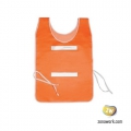 Chaleco Flúo Naranja con Reflectivos 120 grs.